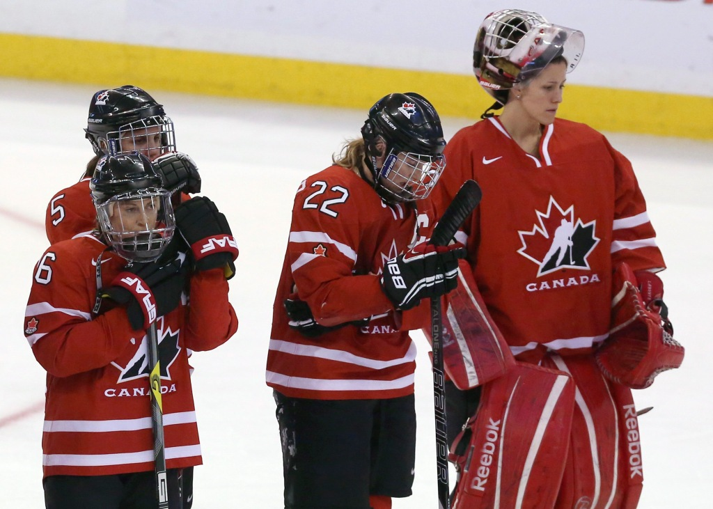Hayley Wickenheiser, Charline Labonte, Lauriane Rougeau, Rebecca Johnston