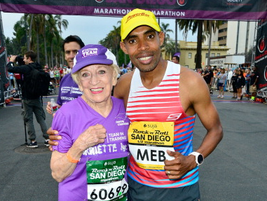 Harriette Thompson, Meb Keflezighi