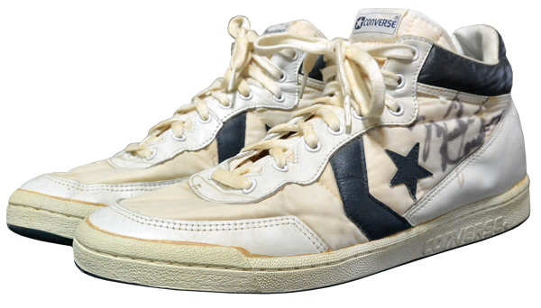 Second pair of Michael Jordan Converse shoes from 1984