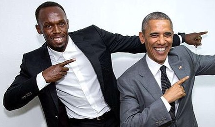Usain Bolt, Barack Obama