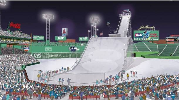 Fenway Park big air ramp