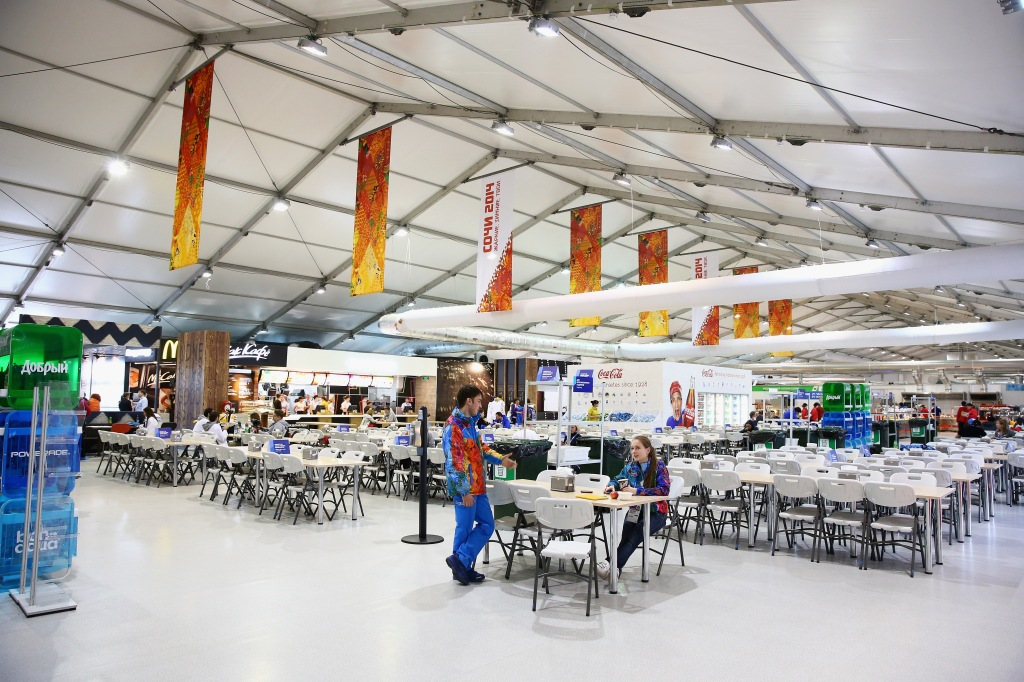 Olympic dining hall cafeteria