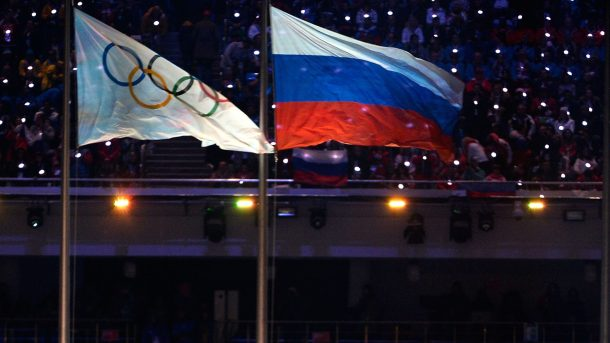 Olympic Russia flags