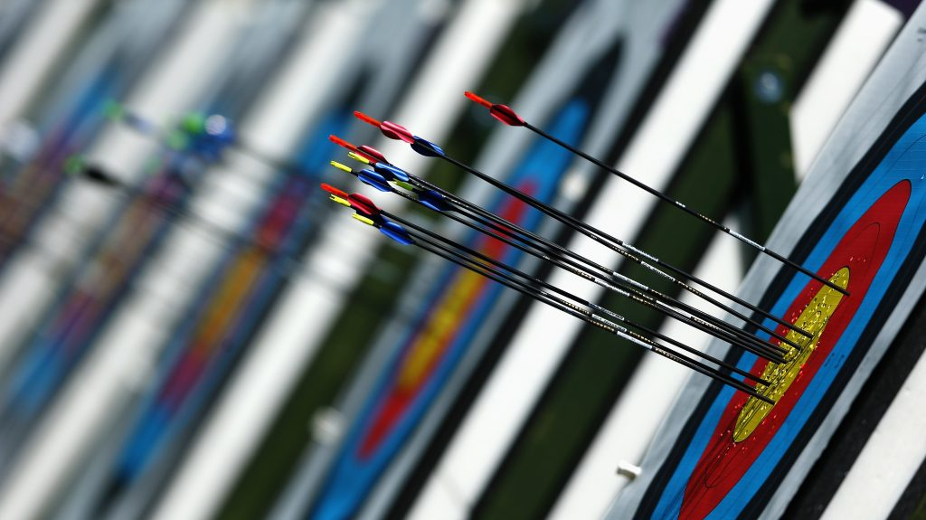 Arrows used in Archery events