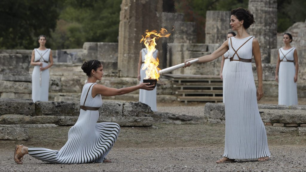 Olympia Olympic Flame Lighting Ceremony