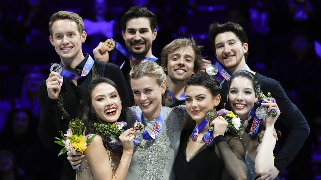 Three U.S. ice dance teams train together in Montreal