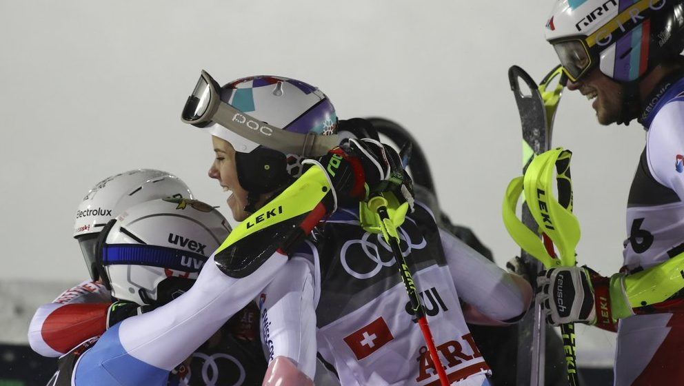 alpine worlds, swiss win