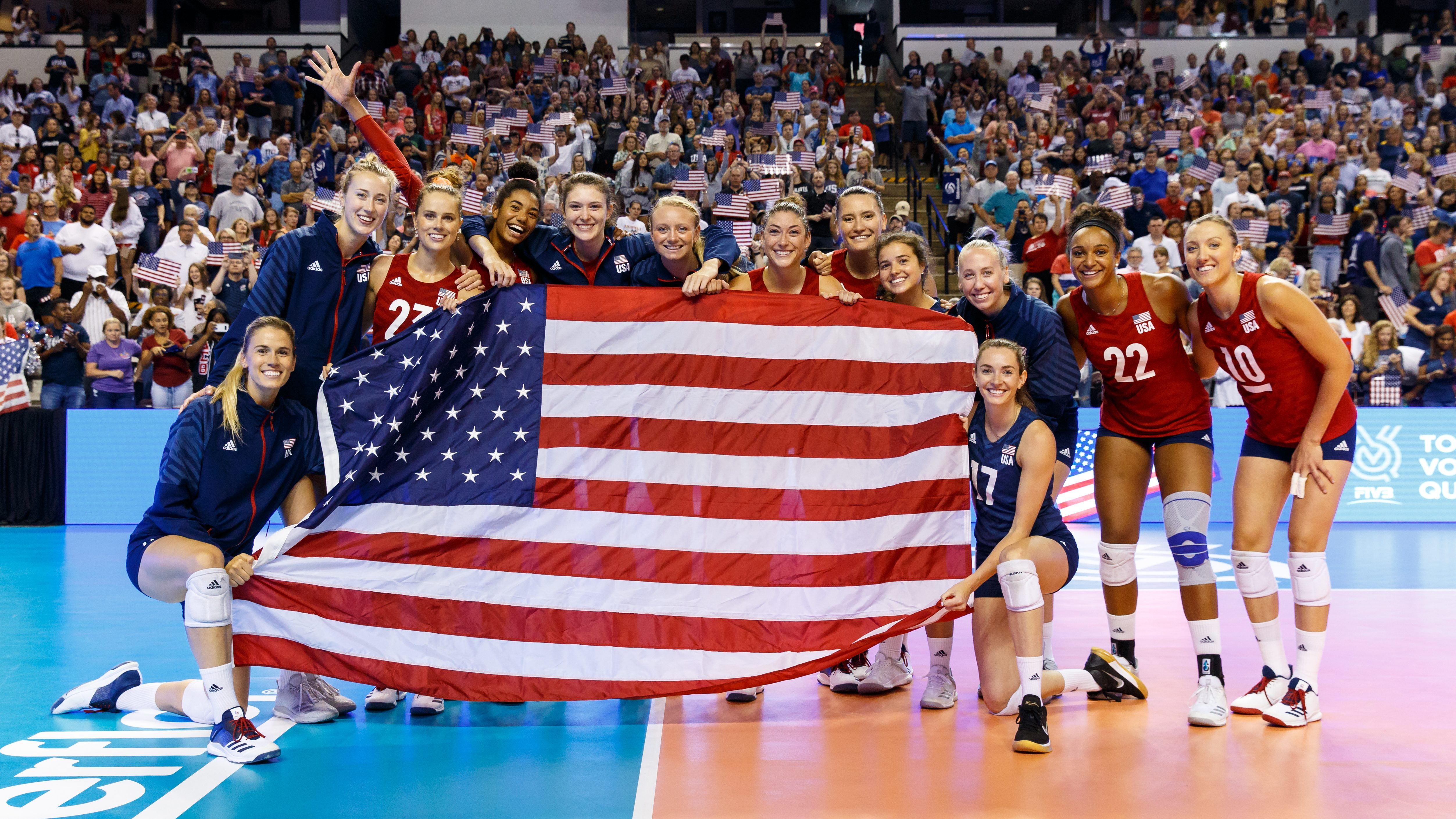 U S Women S Volleyball Team Qualifies For Tokyo Olympics Olympictalk Nbc Sports