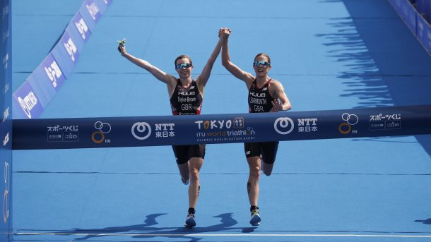 British triathletes finish together