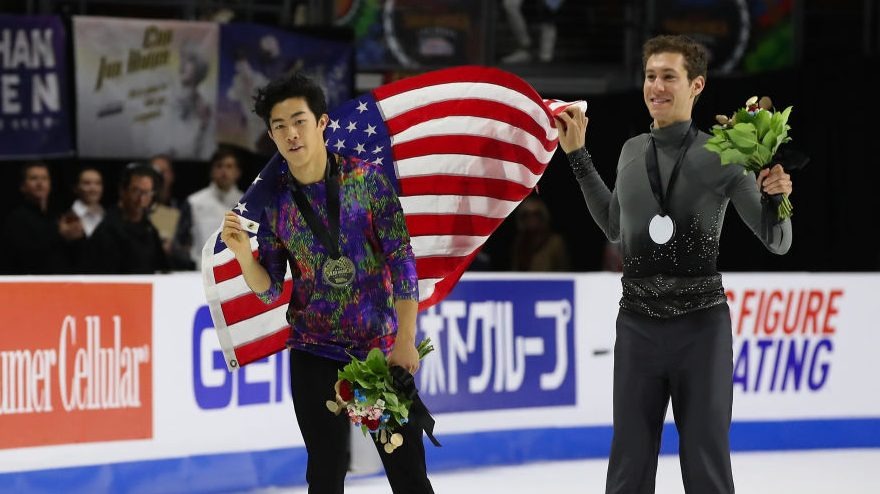 Nathan Chen and Jason Brown