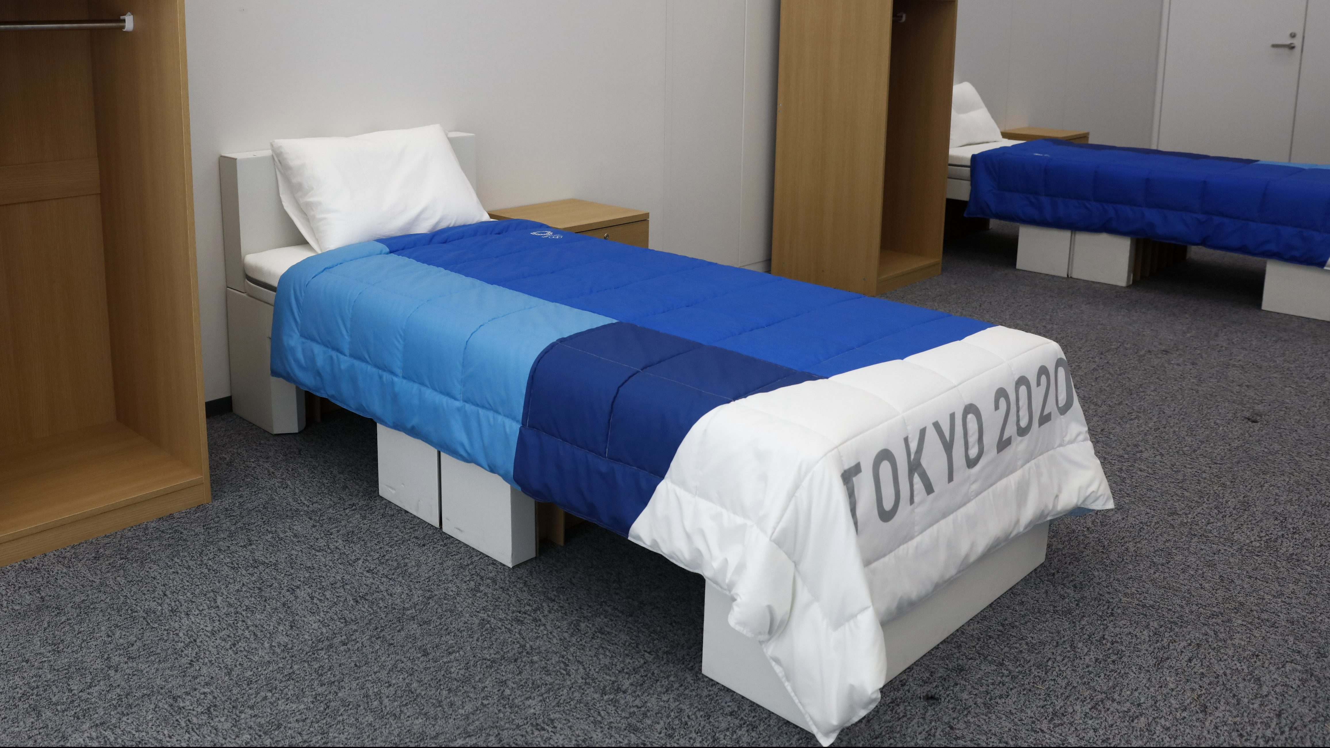 Cardboard bed frames for Tokyo Olympic athletes