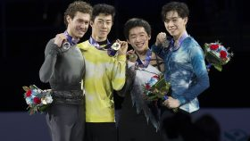 US Figure Skating Championships men's podium