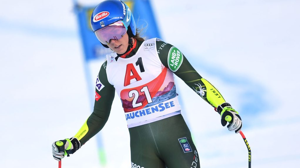 Mikaela Shiffrin skis out of World Cup combined race