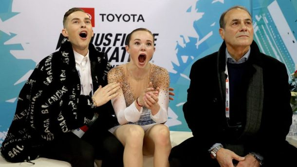 Mariah Bell and Adam Rippon