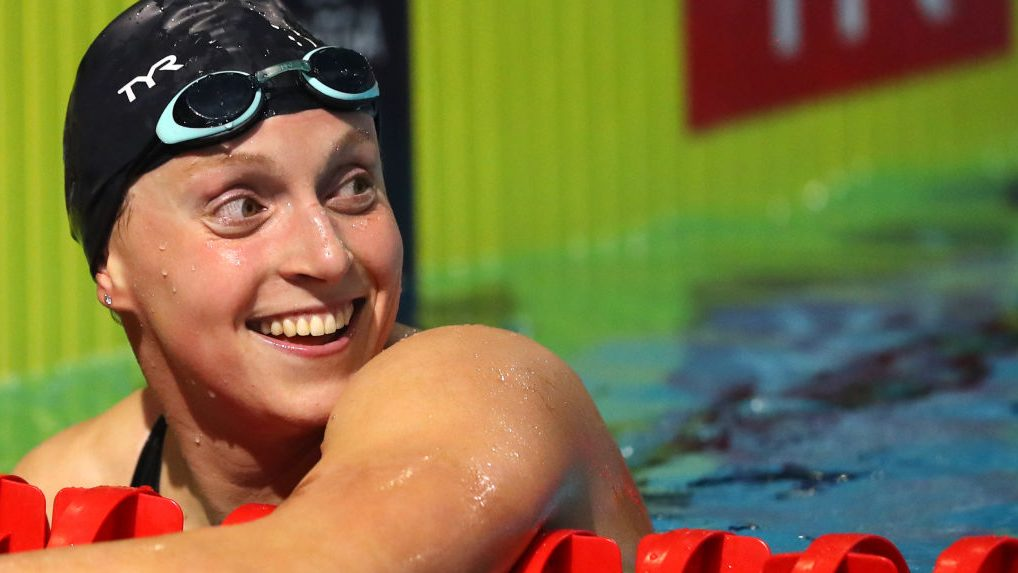 Katie Ledecky wins by 21 seconds to open first full swim meet in one year - Home of the Olympic Channel
