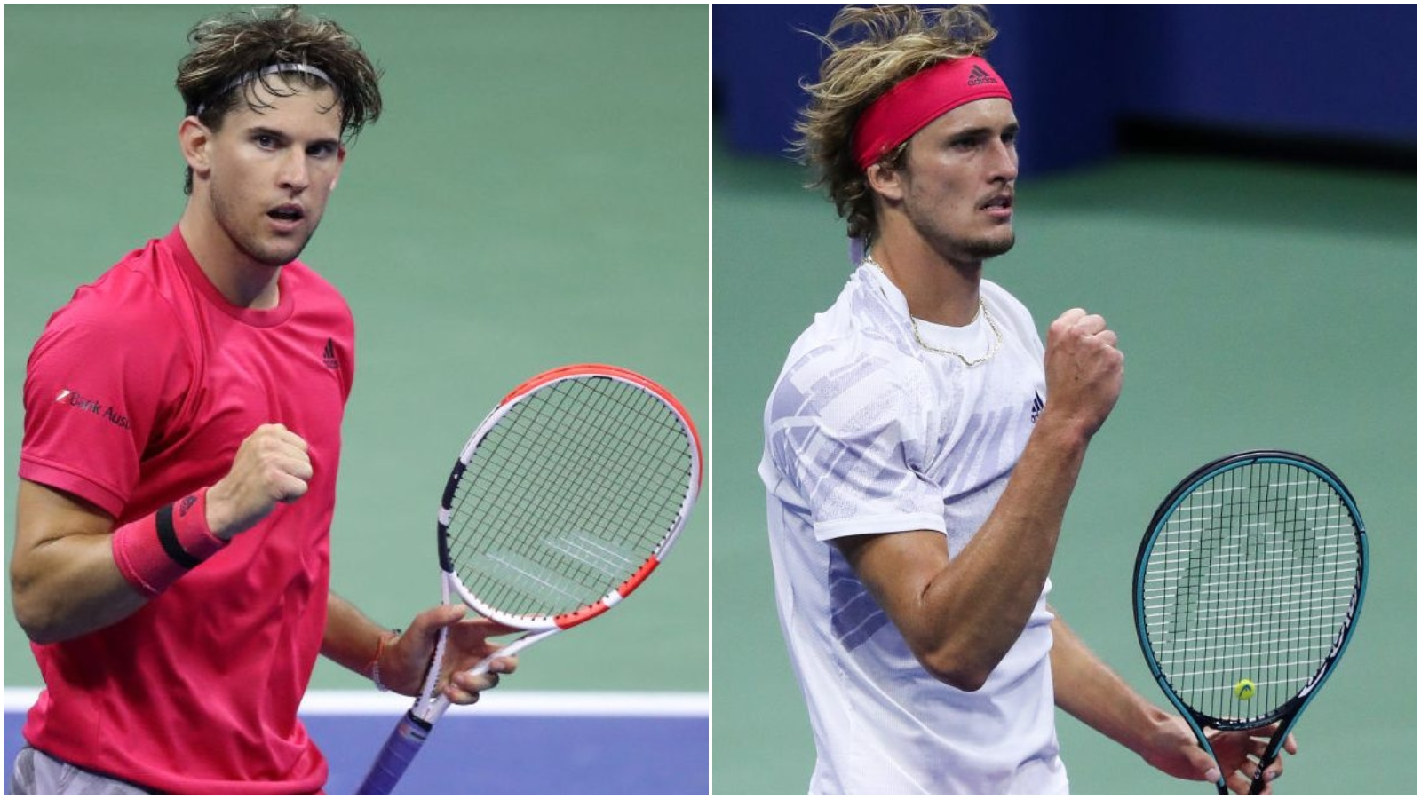 Dominic Thiem Alexander Zverev Set US Open Final Each Eyes First Slam