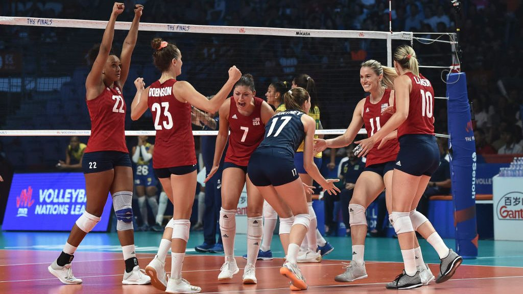 United States v Brazil - 2019 FIVB Volleyball Nations League Final