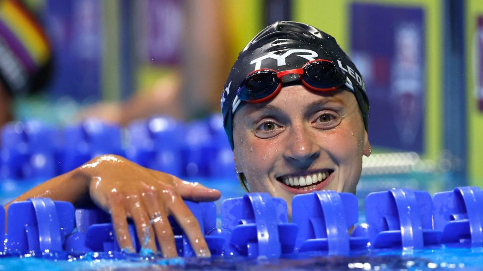 Katie Ledecky breaks record in Olympic Trials finale, joined on team by Little Flower buddy - Home of the Olympic Channel
